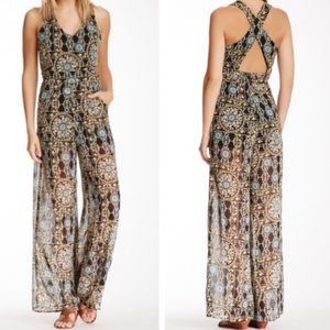 ASTR the label printed jumpsuit